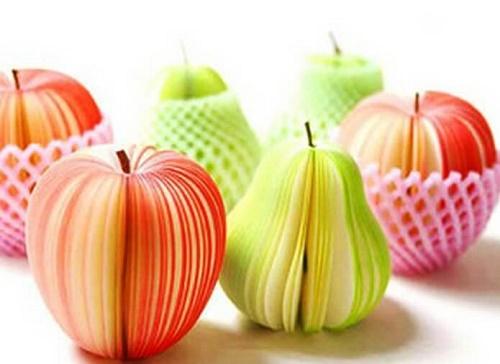 блокноты в виде фруктов